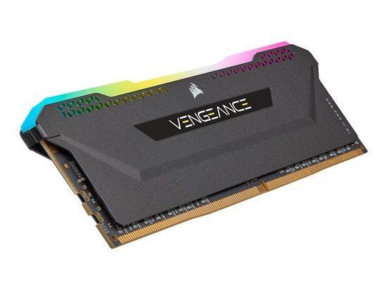 CORSAIR 32GB=2x16GB DDR4 3200MHz VENGEANCE RGB PRO SL BLACK s RGB LED CL16-20-20-38 1.35V XMP2.0 (RGB LED, 32GB=kit 2ks 16GB s černým chladičem)