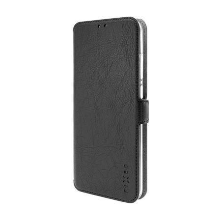 FIXED Topic tenké flip pouzdro Samsung Galaxy A12 černé