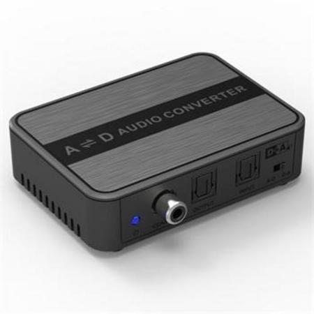 Převodník obousměrný zvuku DIGI-ANALOG a ANALOG-DIGI SPDIF Toslink CINCH stereo jack 3,5mm