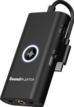 CREATIVE Sound Blaster G3, zesilovač sluchátek (externí zvukovka), USB-C, konektor 3.5m, 70SB183000000