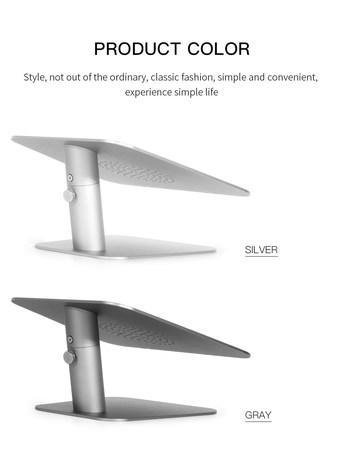 COTEetCI hliníkový flexibilní podstavec pro notebooky (jednosměrný) stříbrný, CS5157-TS