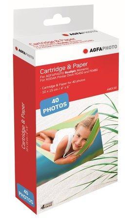 AGFA PHOTO AMOC40 papír 10 x 15/ do sublimační tiskárny/ Moments/ 40ks / Včetně inkoustu