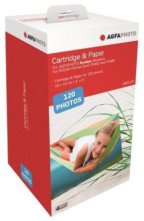 AGFA PHOTO AMOC120 papír 10 x 15/ do sublimační tiskárny/ Moments/ 120ks / Včetně inkoustu