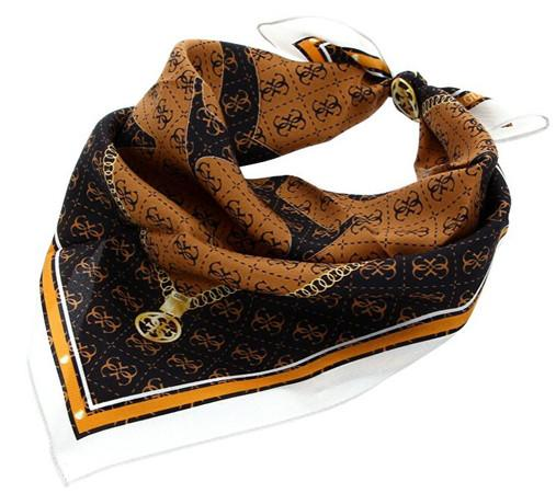 Guess Dámský šátek Jensen Foulard AW8547 SIL53 brown-bro