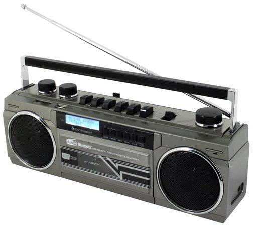 Soundmaster SRR70TI/ Kazetový magnetofon/ DAB+/ BT/ USB/ SD/ 2x 1,5W