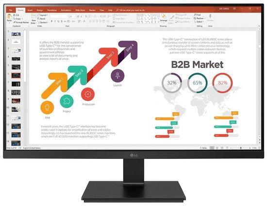 "LG monitor 24BL650C / IPS 24"" / 1920x1080 / 250cd/ 5ms / HDMI / USB-C / DP / repro / pivot, 24BL650C-B.AEU"