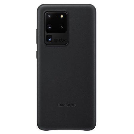 EF-VG988LBE Samsung Kožený Kryt pro Galaxy S20 Ultra Black (Pošk. Blister)