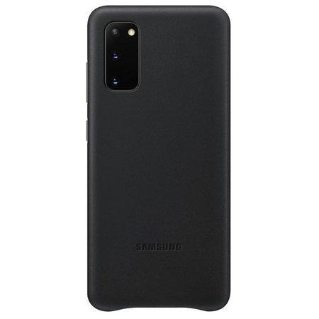 EF-VG980LBE Samsung Kožený Kryt pro Galaxy S20 Black (Pošk. Blister)