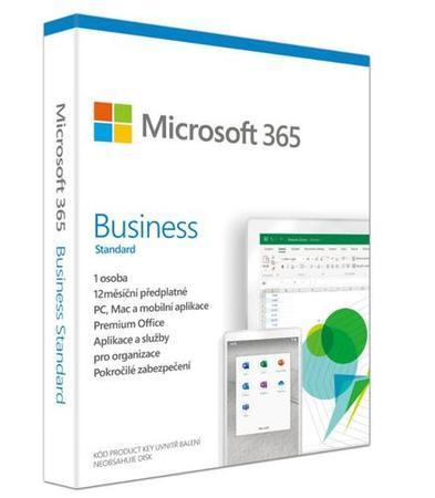 Microsoft 365 Business Standard Retail CZ - předplatné na 1 rok, KLQ-00458