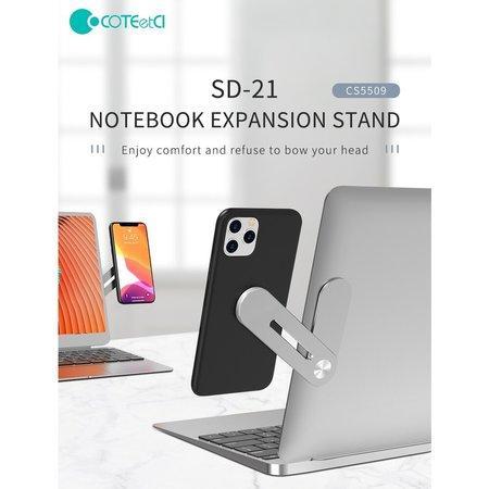 COTEetCI rozšiřující stojan SD-21 na notebook stříbrný