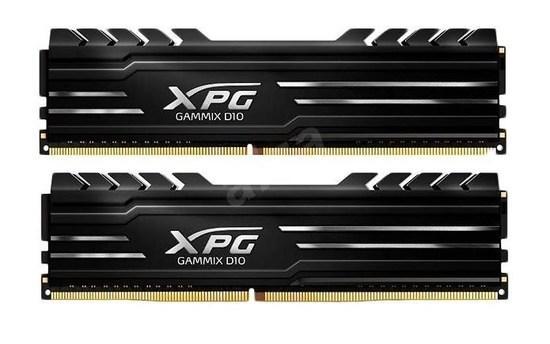 DIMM DDR4 16GB 3200MHz CL16 (KIT 2x8GB) ADATA XPG GAMMIX D10 memory, Dual Color Box, Black, AX4U3200716G16A-DB10