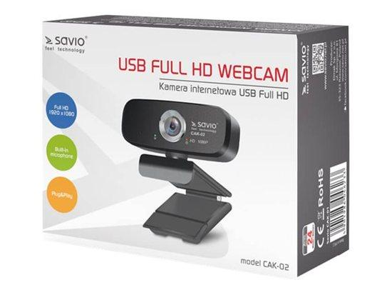 SAVIO CAK-02 USB Full HD Webcam, CAK-02