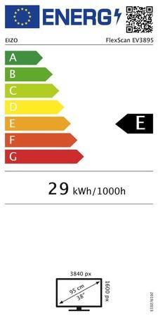 "EIZO MT IPS LCD LED 37,5"", EV3895-BK, 16:9, 3840 x 21600, 300cd, 1000:1, DisplayPort, 2 x HDMI, EV3895-BK"