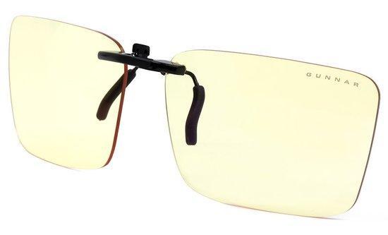 GUNNAR kancelářské brýle CLIP-ON / bez obrouček - klip na brýle / jantárová skla NATURAL, CLI-00101