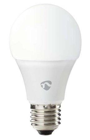 NEDIS Wi-Fi chytrá LED žárovka/ E27/ A60/ 9W/ 230V/ 800lm/ 2700K/ teplá bílá/ bílá