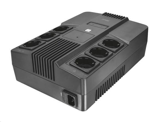 TRUST Záložní zdroj Maxxon 800VA UPS with 6 standard wall power outlets, 23326