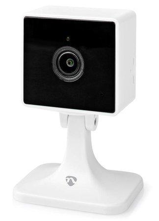 NEDIS IP kamera/ Wi-Fi/ 1080p/ micro USB/ microSD/ Cloud/ Android/ iOS/ bílá, WIFICI40CWT