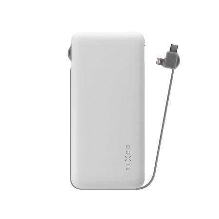 FIXED Zen 10 000 mAh powerbanka s kabelem Lightning/USB-C bílá