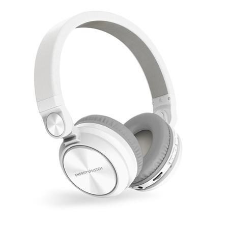 ENERGY Headphones BT Urban 2 Radio White, Bluetooth sluchátka s vestavěným FM rádiem a microSD MP3 přehrávačem