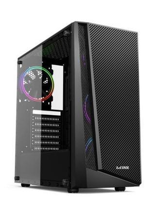 1stCOOL Middle Tower RAINBOW 3 EVO ARGB, ATX black černý, bez zdroje, fulltower ATX (2xUSB2+ 1xUSB3+ Audio+ Transparentní bočnice) (PC case)