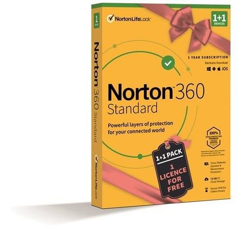 SPECIAL - NORTON 360 STANDARD 10GB + VPN 1+1 uživatel pro 1 zařízení na 1rok BOX, 21414993
