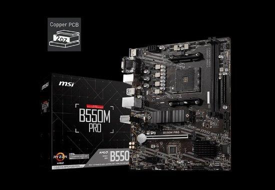 MSI MB Sc AM4 B550M PRO, AMD B550, 4xDDR4, VGA, mATX, B550M PRO