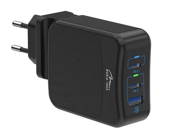 Media-Tech USB-CX2 napájecí zdroj 65W MT6252, MT6252