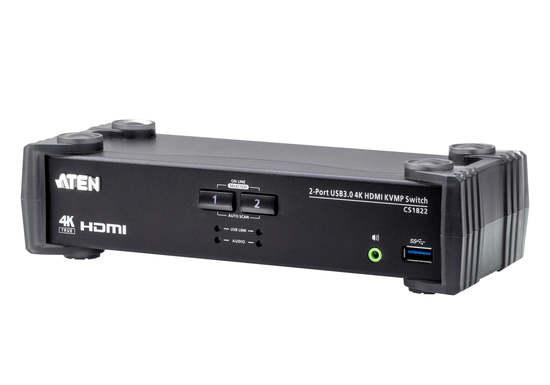 ATEN 2-Port USB 3.0 DisplayPort KVMP Switch, CS1822-AT-G