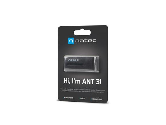 Natec ALL in One čtečka karet MINI ANT USB 2.0, M2/microSD/MMC/Ms/RS-MMC/SD/T-Flash