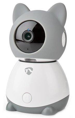 NEDIS IP kamera/ Wi-Fi/ 1080p/ Micro SD/ Cloud/ snímač pohybu/ náklon/ noční vidění/ Android/ iOS/ šedo-bílá, WIFICI30CGY