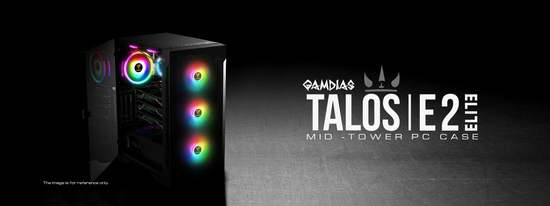 Gamdias RGB PC skříň TALOS E2 ELITE