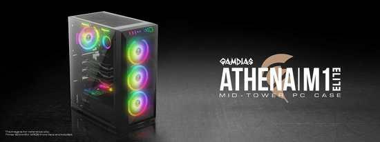 Gamdias RGB PC skříň ATHENA M1 ELITE