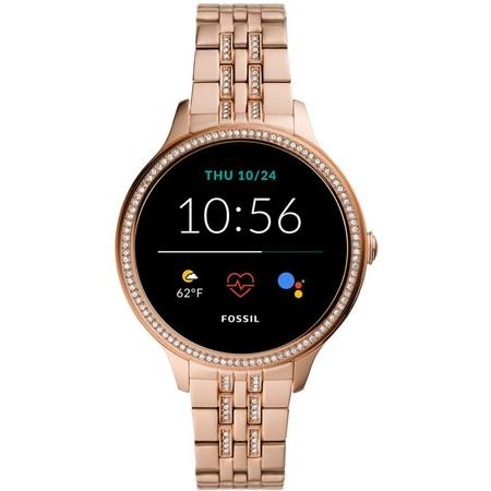 Chytré hodinky Fossil FTW6073 Gen 5E 42mm - růžové zlato