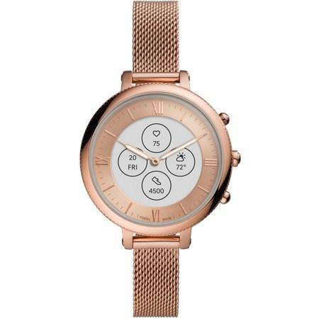 Chytré hodinky Fossil FTW7039 Monroe Hybrid HR 38mm - růžové zlato