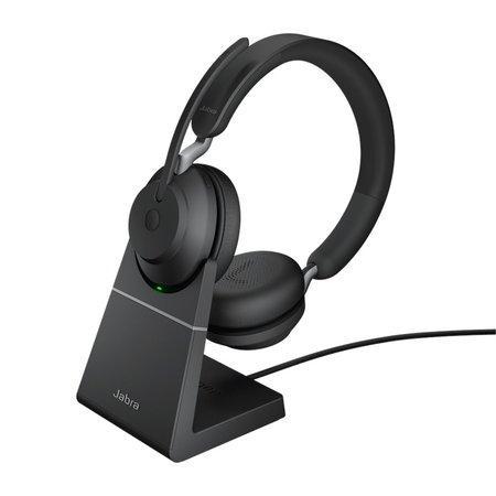 Náhlavní souprava Jabra Evolve2 65 se stojánkem, Link 380a MS, stereo, černá, 26599-999-989