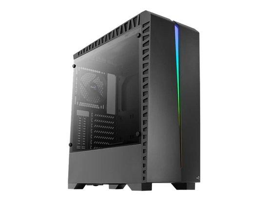 Aerocool PC skříň ATX SCAR RGB TEMPERED GLASS - 1x120mm BLACK FAN, AEROPGSSCAR-BG-RGB