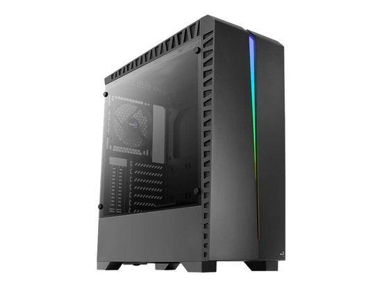 Aerocool PC skříň ATX SCAR RGB TEMPERED GLASS - 1x120mm BLACK FAN