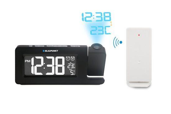 Rádiobudík BLAUPUNKT CRP10BK, FM PLL, teploměr, projekční, černý